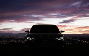 Picture Concept, night, Audi, coupe, Coupe, 2014, Prologue