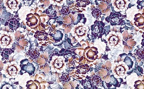 Picture flowers, background, texture, Pattern, Floral