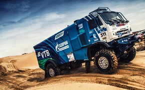 Picture Sand, Sport, Machine, Truck, Race, Master, Russia, 2018, Kamaz, Rally, KAMAZ-master, Rally, KAMAZ, The roads, …