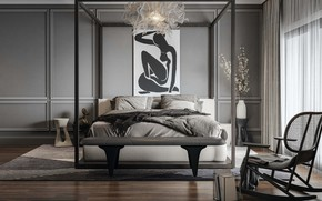 Picture design, style, interior, bedroom, by Rohit Bhoite, St Leonard avenue residence