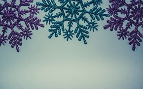 Picture winter, snowflakes, background, blue, Christmas, blue, winter, background, snowflakes, decoration