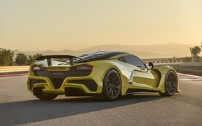 Picture supercar, rear view, Hennessey, hypercar, 2017, Venom F5