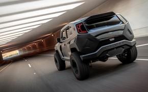 Picture road, style, Design, Mountain, Machine, SUV, Jeep, tunnel, SUV, Rezvani Tank