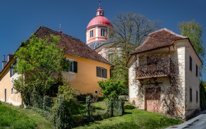 Picture home, Austria, Church, Pöllau, Eastern Styria