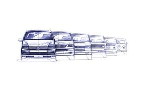 Picture volkswagen, sketch, transporter