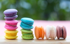 Picture cakes, dessert, dessert, sweet, bright, french, pink, macaron, sweet, macaroon, colorful, macaroon
