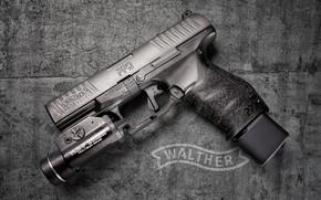 Wallpaper gun, background, cracks, PPQ M1