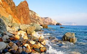 Picture water, stones, shore, coast