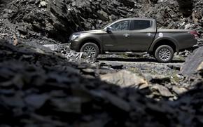 Picture stones, profile, Mitsubishi, pickup, L200, 2015