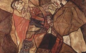 Picture Munich, Neue Pinakothek, 1912, Egon Schiele, The agony