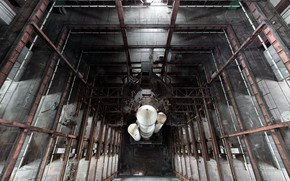 Picture background, rocket, hangar