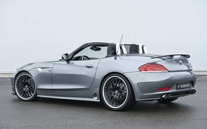 Picture grey, BMW, Roadster, Hamann, 2010, E89, BMW Z4, Z4, in front of the wall