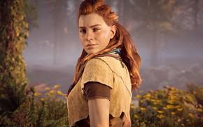 Picture Girl, Look, Trees, Horizon, Sony Computer Entertainment, Guerrilla Games, Horizon: Zero Dawn, Horizon Zero Dawn