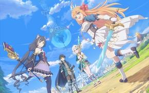 Picture girls, fantasy, guy, Yuuki, Eustiana of Astraea, Kokoro Natsume, Kiruya Momochi, Princess connect! Re:Dive