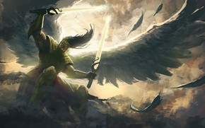Picture wings, angel, warrior, the Archangel
