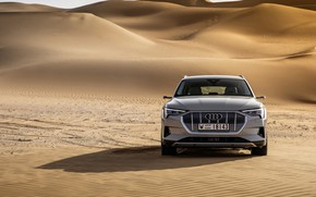 Picture Audi, front view, crossover, E-Tron, 2019, electrocreaser