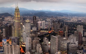 Picture landscape, mountains, the city, Malaysia, Kuala Lumpur