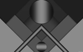 Picture circles, shadows, figure, gradients