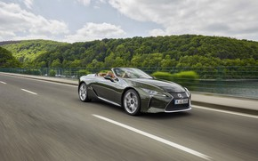 Picture Lexus, convertible, in motion, 2021, LC 500 Convertible