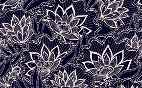 Picture flowers, background, pattern, texture, flowers
