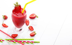 Picture glass, berries, strawberry, fresh, smoothies