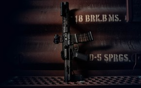 Picture metal, weapons, background, carabiner, assault rifle