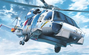 Picture Sikorsky, The self-defense forces of Japan, carrier-based ASW helicopter, Anti-Submarine Helicopter, SH-60J Sea Hawk