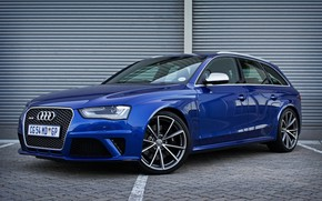 Picture Audi, Blue, RS 4, Before
