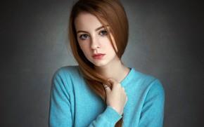 Picture look, pose, background, model, portrait, makeup, hairstyle, brown hair, beauty, jacket, bokeh, Ann Nevreva
