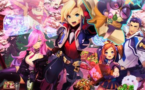 Picture girls, spring, guy, League of Legends, League Of Legends