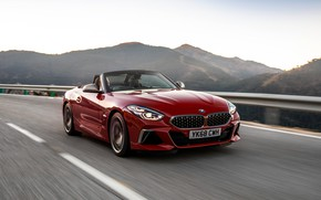 Picture red, markup, BMW, Roadster, BMW Z4, M40i, Z4, 2019, UK version, G29