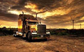Picture truck, tractor, Kenworth, transport, trailer, SEMI, Kenworth, truck