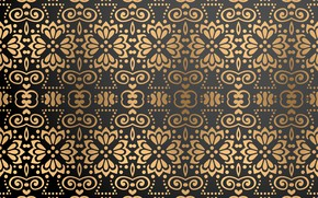 Picture background, gold, black, gold, ornament, background, color, Luxury, ornamental