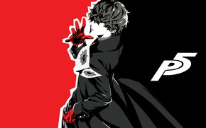 Picture Joker, guy, monochrome, Person 5, Persona 5