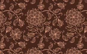 Picture flowers, background, texture, brown