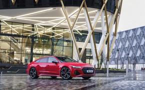 Picture Audi, Parking, RS 7, 2020, UK version, the building, RS7 Sportback
