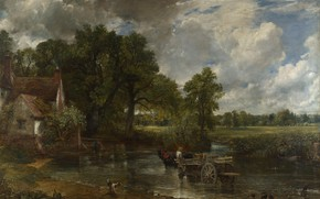 Picture landscape, picture, wagon, John Constable, The Hay Wain, John Constable