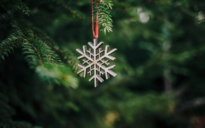 Picture decoration, tree, Christmas, New year, new year, Christmas, snowflake, decoration, snowflake