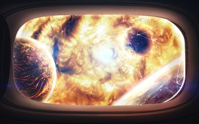 Picture Fire, Planet, Space, Star, The explosion, Planet, The window, Apocalypse, Heat, Planets, Fire, Star, Art, ...