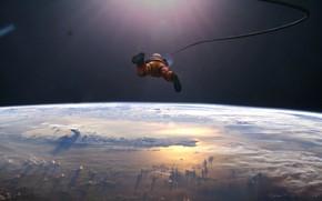 Picture Planet, Space, Astronaut, Art, Art, Astronaut, by Kentaro Kameda, Kentaro Kameda