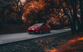 Picture red, honda, civic