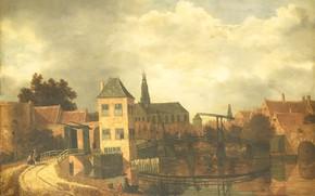 Picture oil, picture, the urban landscape, 1659, Бальтазар ван дер Вейн, Balthasar van der Veen, Вид …