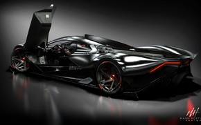 Picture hypercar, Devel Sixteen, Mark Hostler, hyper car, Марк Хостлер, 5000 hp, Devel Motors
