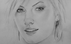 Picture girl, face, figure, Elisha Cuthbert
