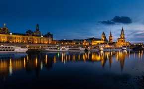 Picture lights, river, the evening, Germany, Dresden