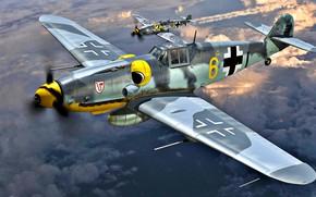 Picture Messerschmitt, Bf-109, Bf.109G-6/R6, ''Udet'', Alfred Surau, September 1943, 9./JG3