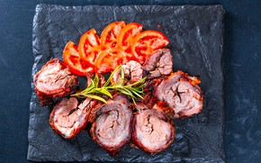 Picture photo, meat, tomatoes