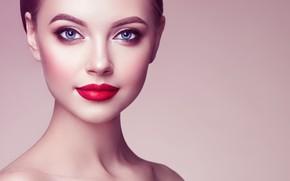 Picture girl, model, makeup, hairstyle, Oleg Gekman