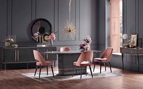 Picture design, style, interior, dining room, dining table, olivia sabit