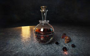 Picture skull, decanter, HP Potion, Taisa Kislova (DarP)
